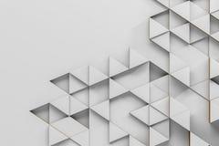 Het abstracte witte grijze driehoekige patroon, bespot omhoog stock illustratie