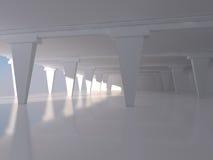 Het abstracte witte lege binnenlandse 3D teruggeven als achtergrond Royalty-vrije Stock Afbeeldingen