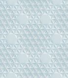 Het abstracte witte naadloze moderne lage poly 3d teruggeven als achtergrond Stock Foto's