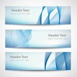 Het abstracte witte vectorontwerp van de kopbal blauwe golf Royalty-vrije Stock Foto's