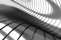 Het abstracte zilver van het aluminium Stock Foto's