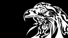 Het abstracte zwart-witte adelaar stileren royalty-vrije illustratie