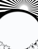 Het abstracte Zwart-witte Ontwerp van de Kaart van de Zonsopgang Lege Stock Foto