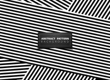 Het abstracte zwart-witte op ontwerp van het de lijnpatroon van de kunststreep Illustratie vectoreps10 stock illustratie
