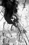 Het abstracte zwart-witte schilderen royalty-vrije illustratie