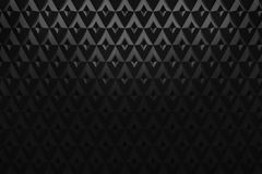 Het abstracte zwarte het patroon van de diamantdriehoek 3d teruggeven als achtergrond Stock Foto's
