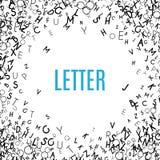 Het abstracte zwarte kader van het alfabetornament dat op witte achtergrond wordt geïsoleerd Royalty-vrije Stock Fotografie