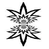 Het abstracte zwarte wit van het ontwerpelement Speciale kunstvorm Stock Afbeeldingen