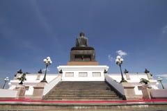 Het achter grote beeld van Boedha in Phutthamonthon Royalty-vrije Stock Afbeeldingen