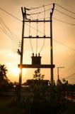 Het achter lichte zontransformator everning Stock Foto