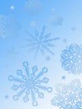 Het achtergrond-blauw van de sneeuwvlok royalty-vrije illustratie