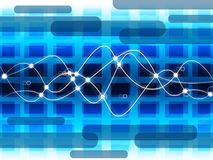 Het achtergrondnet betekent Abstracte Patroon en Elektriciteit Royalty-vrije Stock Afbeeldingen