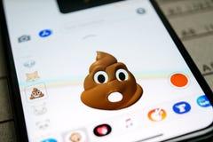 Het Achterschip van de Erkenningsanimoji Emoji van gezichtsidentiteitskaart Faceial Stock Foto