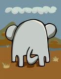 Het Achterste van Elephantidae stock illustratie