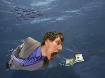 Het achtervolgen van Geld stock afbeelding
