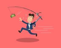 Het achtervolgen van Geld stock illustratie