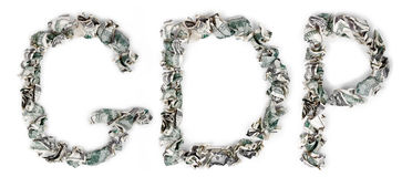 Het BBP - Geplooide Rekeningen 100$ Royalty-vrije Stock Foto's