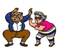 Het actieve Hogere Mensen Dansen royalty-vrije stock afbeelding