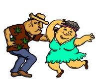 Het actieve Hogere Mensen Dansen stock afbeelding