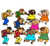 Het actieve Hogere Mensen Dansen royalty-vrije stock foto
