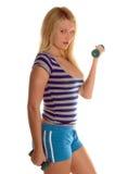Het actieve Vrije Gewicht werkt uit Stock Fotografie