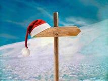 Het adres van het kerstmanhuis stock afbeelding