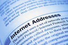 Het adres van Internet stock foto