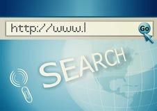 Het adres van Internet, het computerscherm Royalty-vrije Stock Fotografie