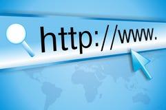 Het adres van Internet, het computerscherm Stock Afbeeldingen