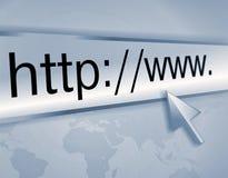 Het adres van Internet, het computerscherm Stock Foto's