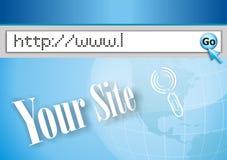 Het adres van Internet, het computerscherm Royalty-vrije Stock Foto