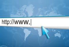 Het adres van Internet, het computerscherm Stock Fotografie