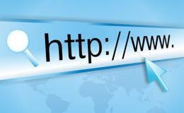 Het adres van Internet, het computerscherm Stock Foto