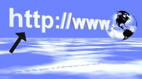 Het adres van Internet met aarde Royalty-vrije Stock Afbeelding