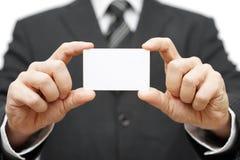 Het adreskaartje van de zakenmangreep, bedrijfidentiteit Stock Afbeeldingen