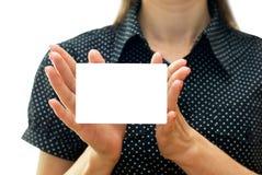 Het adreskaartje van Emty Stock Afbeeldingen