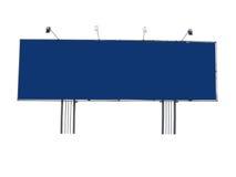 Het adverterende paneel van het aanplakbord met lege ruimte en lichte projector Stock Foto's