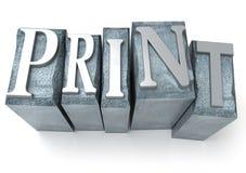 Het af:drukken Stock Fotografie