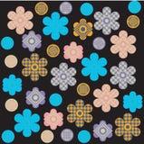 Het af:drukken van de bloem ontwerp Royalty-vrije Stock Afbeeldingen