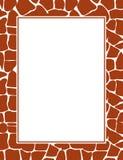 Het af:drukken van de giraf grens Stock Foto's