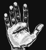 Het af:drukken van de hand stock fotografie