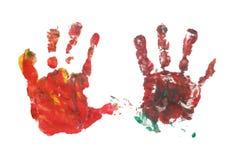 Het af:drukken van de hand royalty-vrije illustratie