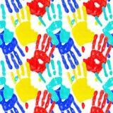 Het af:drukken van de hand Stock Foto