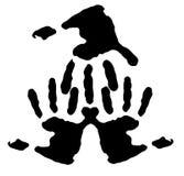 Het af:drukken van de hand die bij vingers wordt verbonden royalty-vrije illustratie