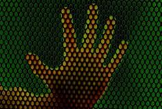 : Het af:drukken van de hand identificatie voor veiligheid royalty-vrije illustratie