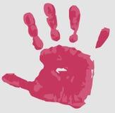 Het Af:drukken van de hand op Grijze Achtergrond Stock Illustratie