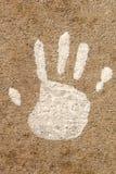 Het Af:drukken van de Hand van het kind Royalty-vrije Stock Afbeeldingen