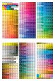 Het af:drukken van de kleur testpagina stock afbeeldingen