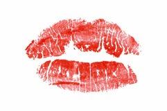 Het af:drukken van de lippenstift Royalty-vrije Stock Fotografie