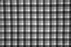 Het af:drukken van de stof met zwart-wit net Stock Afbeeldingen